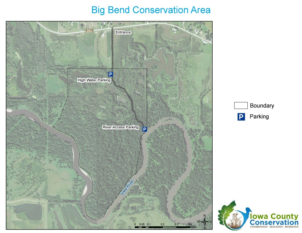 Map of Big Bend Conservation Area